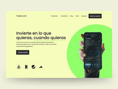 Trading Minimalist Website minimalist minimal uiux figmadesign ux ui webdesign design web trading trader