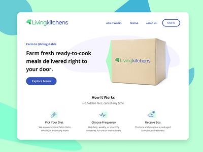 Living Kitchens Landing Page branding