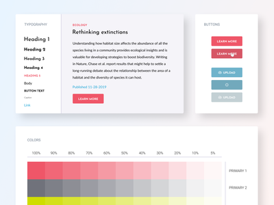 Sample Component Library ux ui