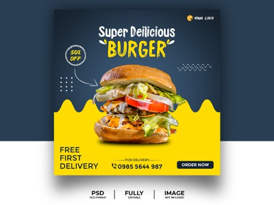 Social Media Banner, Poster, Template food banner burger food poster food event product design ecommerce branding post 2d 3d brand design instagram post adobe illustrator adobe xd advertising adobe photoshop social media banner poster banner