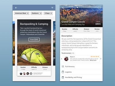 Daily UI: Trip Discovery mobile design daily ui dailyui
