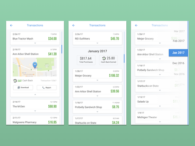 Daily UI: Transaction History mobile design daily ui dailyui