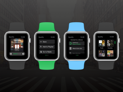 Daily UI: Smartwatch Design spotify apple watch wearable daily ui dailyui