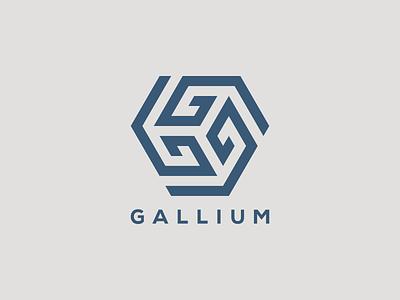 GALLIUM logo design spiral unique shape g simple logo