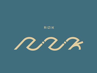 RIZIK Logo logo design mark typography custom abstract wave music logo
