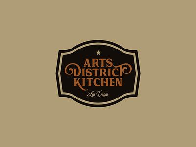 Arts District Kitchen Logo food vegas las vegas restaurant star typography logo redesign