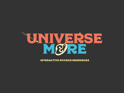 Universe & More Logo educational quirky fun physics planet logo space