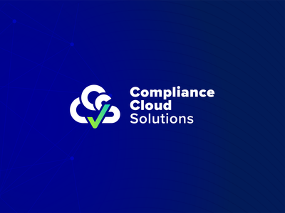 CCS — Compliance Cloud Solutions, Logo validate approved compliance check mark gradient blue security cyber cloud logo