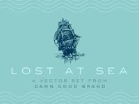 """""""Lost at Sea"""" Vector Set"""