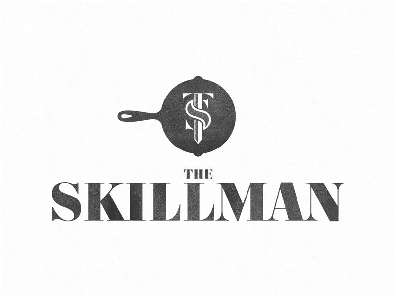 Restaurant Logo Monogram for The Skillman out of NYC monogram visual identity branding restaurant nyc skillman skillet