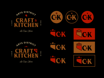 Craft & Kitchen Logo Lockup Ideas