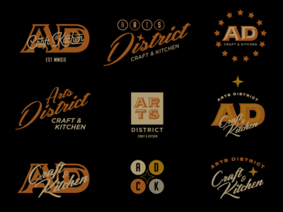 Arts District Logo Concepts