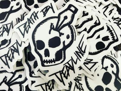 """Death by Deadline"" Stickers"