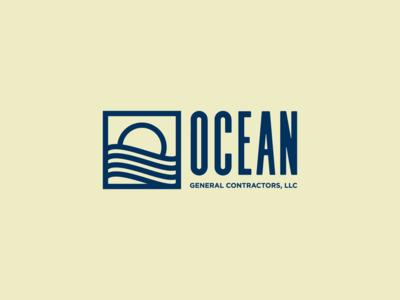 Ocean Minimalist Mono Weight Logo
