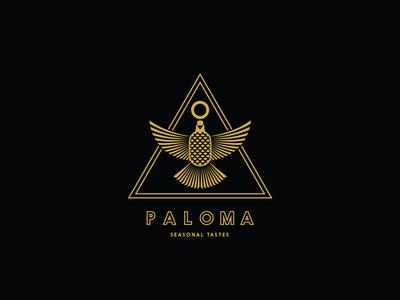 Paloma Restaurant Logo Concept