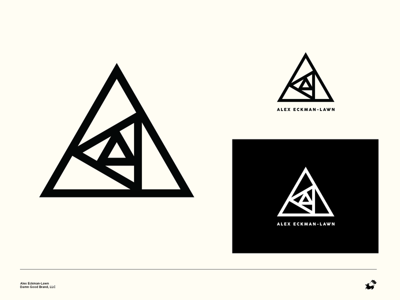 Alex Eckman-Lawn Personal Logo strong sans serif clean simple minimal triangle concentric spiral logo artist