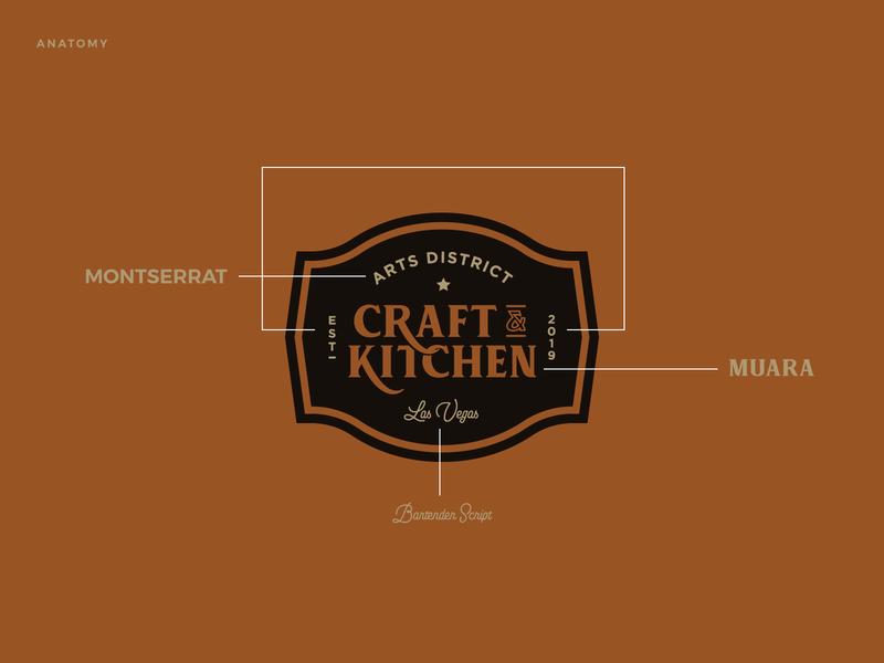 Arts District Craft & Kitchen Case Study - Link in Description menu badge art direction website design food design food typography logo design restaurant logo restaurant branding