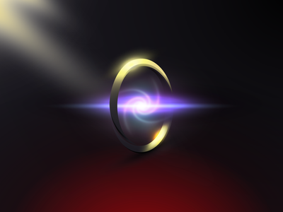 Magic: The Gathering | Sol Ring | Adobe Illustrator magic item object gradients iphone desktop wallpaper illustration magic the gathering vector illustrator
