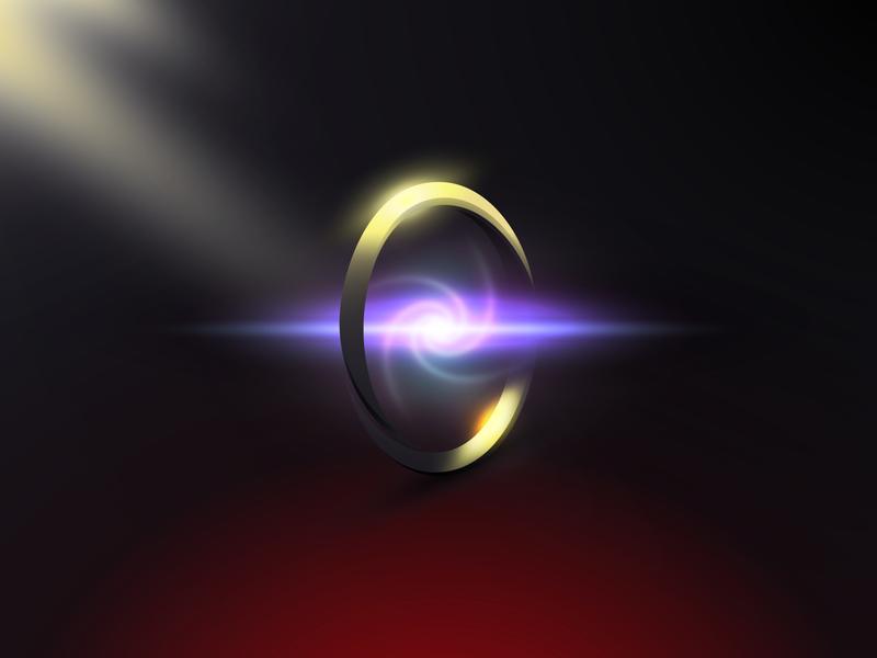 Magic: The Gathering   Sol Ring   Adobe Illustrator magic item object gradients iphone desktop wallpaper illustration magic the gathering vector illustrator