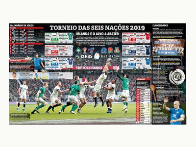 seis nacoes rugby infographic sports newspaper sport design designer editorial design infographic design
