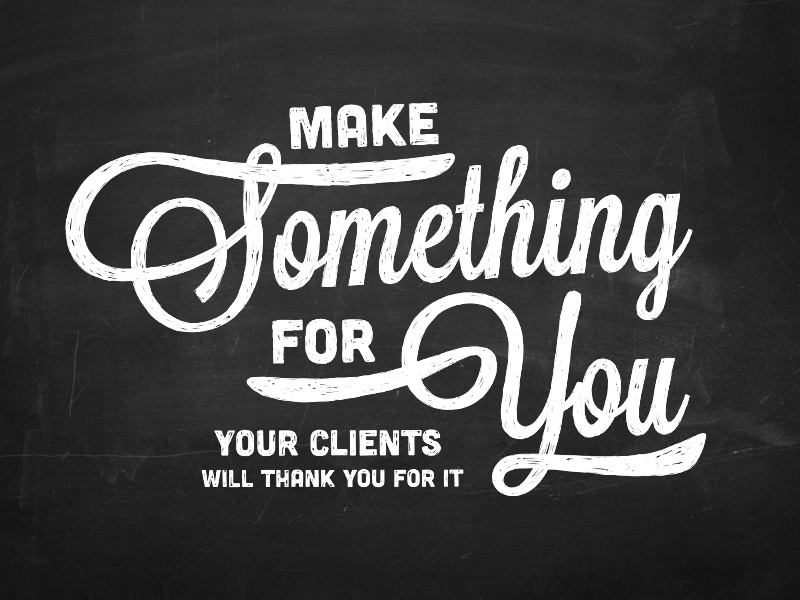 Make something for you hand drawn typography theme