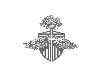 Silver Rabbit secondaries coatofarms shields rabbits branding design logo bw illustration