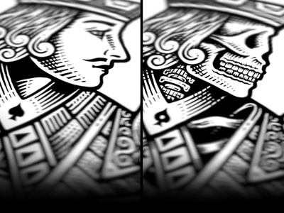 Life & Death life death illustration bob case bw