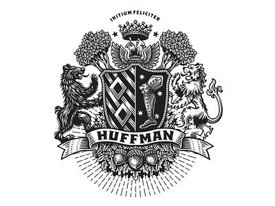 Coat of Arms bear lion shield badge color coat of arms design branding logo bw illustration