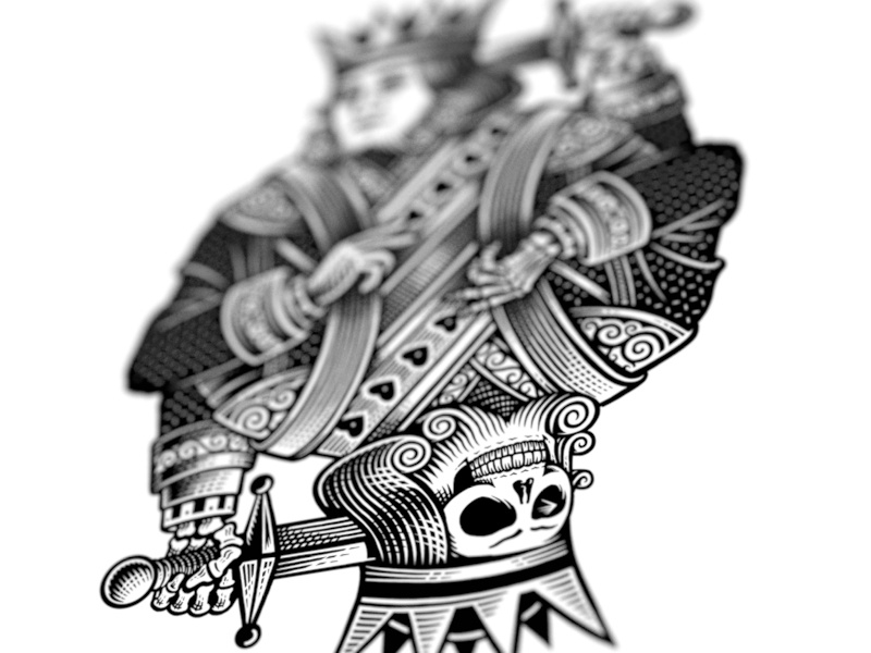 Suicide king by bob case dribbble for Suicide kings tattoo