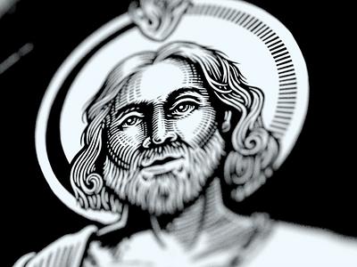 St. Jude st. jude patron saint bw illustration