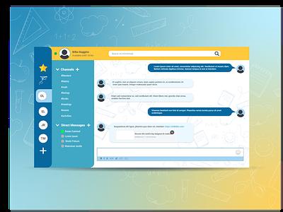 Daily UI #013 - Direct Messaging school chat direct message ux user experience uiux designs illustrator ui design dailyuichallenge dailyui adobexd