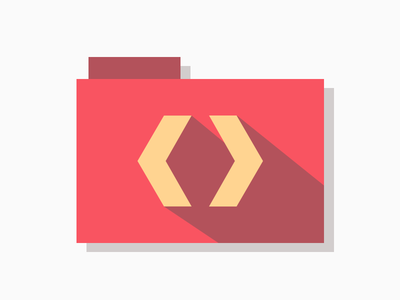 Developer Folder folder icns code developer red orange free