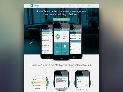Lilypad Homepage lilypad iphone sales website landing page mock
