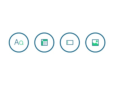 Wireviews wireframe icons typography tables forms images y2k neophite blue green circle