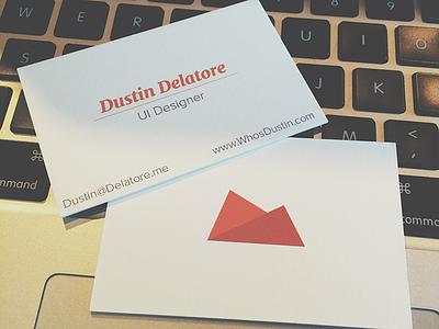 Business Cards business card card luxe orange mock ui ux designer dusti