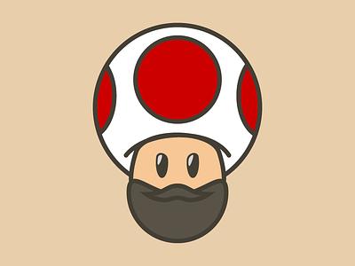 Bearded Toad game video cartoon character avatar mario toad beard