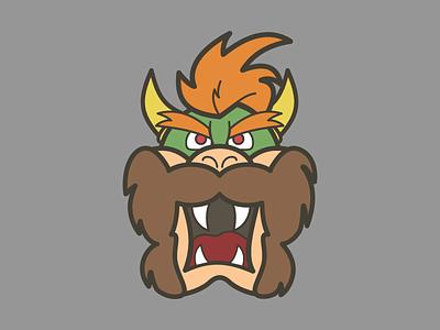 Bowser Beard game video cartoon avatar character mario beard bowser