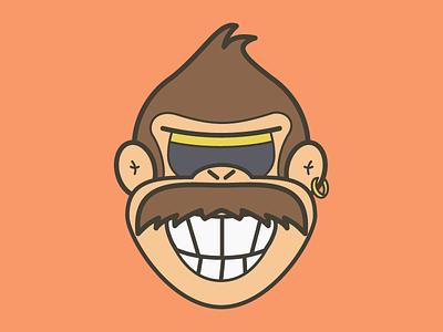 Donkey Kong mario avatar sunglasses earing mustache character boz kong donkey