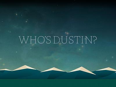 WhosDustin 2.0 website portfolio