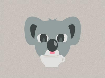 Koala Koffee koala coffee illustration
