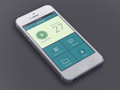 Lilypad Sales white iphone app avenir flat blue green lilypad