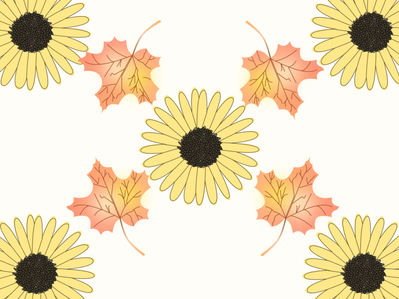 Fall Wallpaper vectorart vector illustration vector flower designing sketchapp fall uiux ui sketch typography logo illustrator branding art illustration icon design app animation