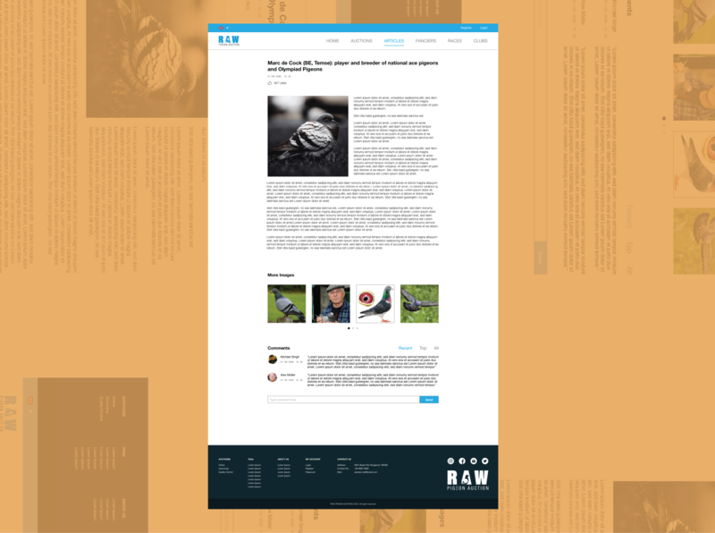 Article Page ui flat clean clean ui webdesign website design web