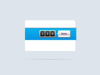 Counter counter rating vote