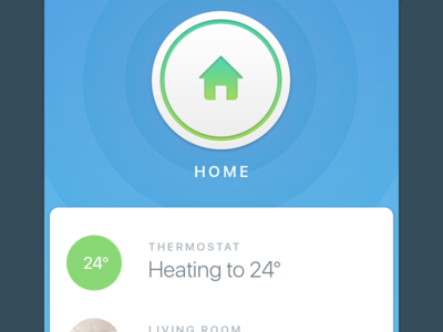 Connected Home button app smart home