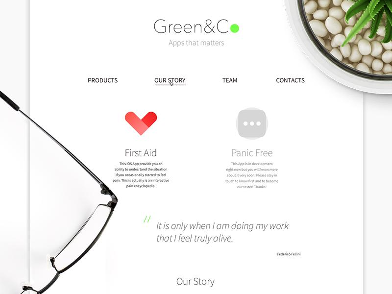 Green&Co Website healthcare start-up medical adaptive responsive minimalistic clean white website web design design web
