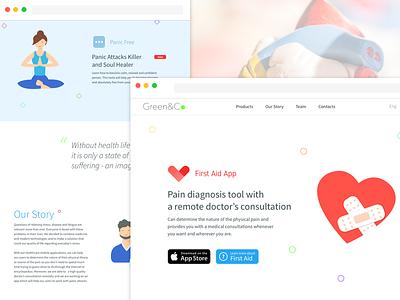 Green&Co Website adaptive responsive mobile app ios healthcare health webdesign web design web page web landing