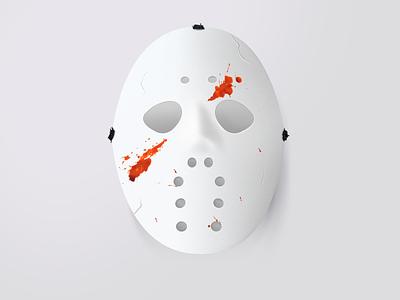 Jason scary 2d cracks blood halloween jason photoshop horror mask illustration realistic icon