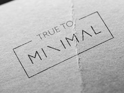 True To Minimal logo logotype minimal minimalistic monochrome bw black and white simple m geometry shape line