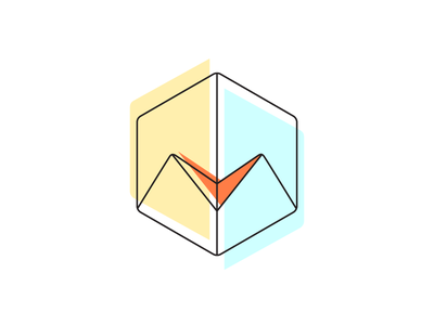 Linemedia Logo media shape geometry m minimal simple line art line sign branding logotype logo